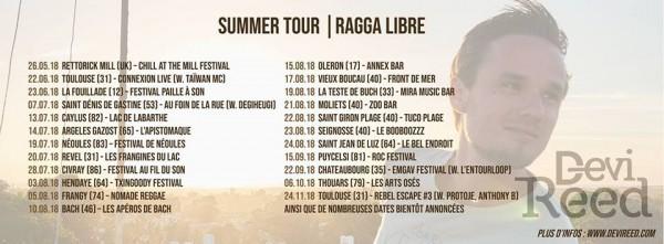 Devi Reed en tournée