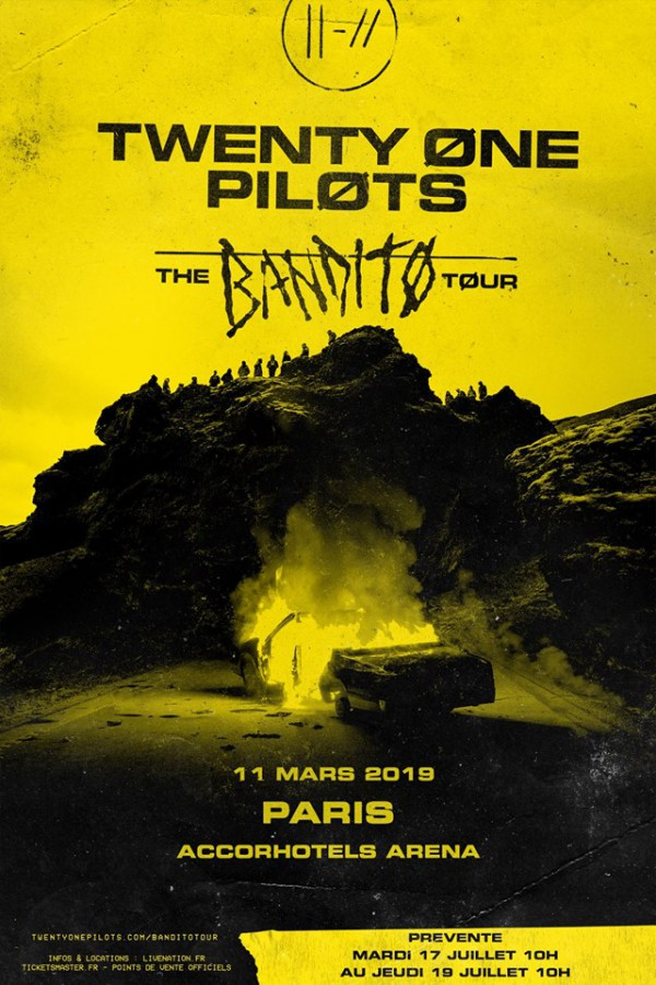 twenty one pilots, trench, live nation, accorhotel arena, concert, live, tour, europe, 2019