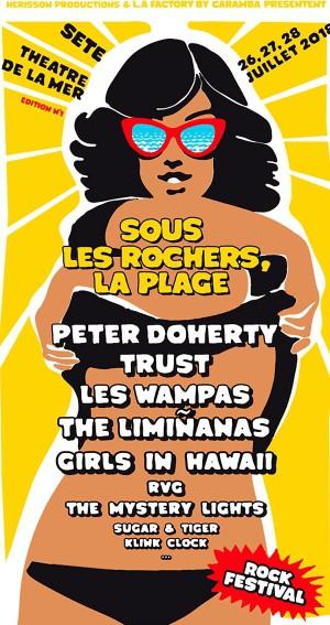 Flyer Sous Les Rochers La Plage Sete 2018