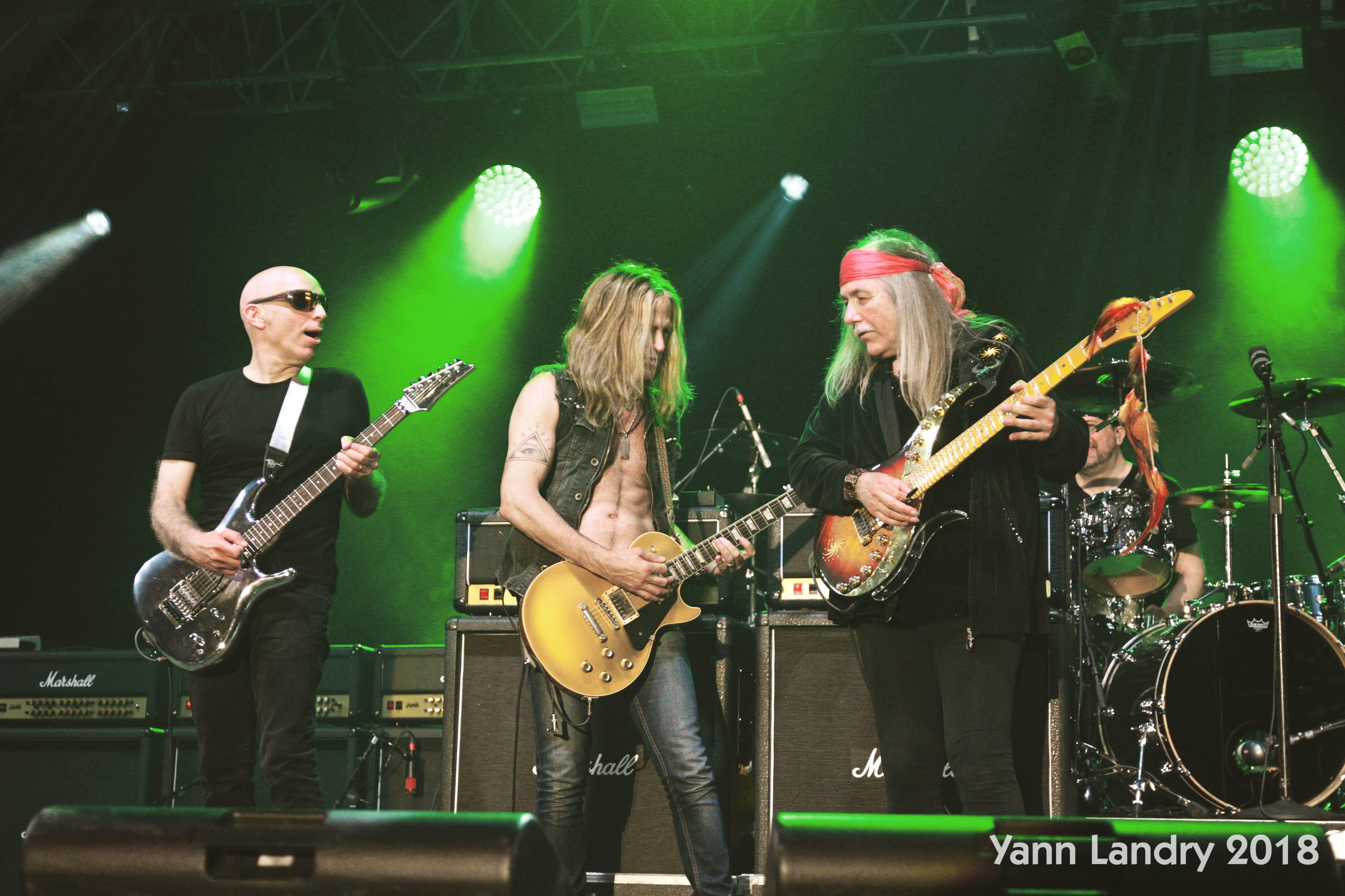 Joe Satriani, Doug Aldrich, Uli Jon Roth, G3, Grenouille, Pépé vicieux, Manowar, Motul
