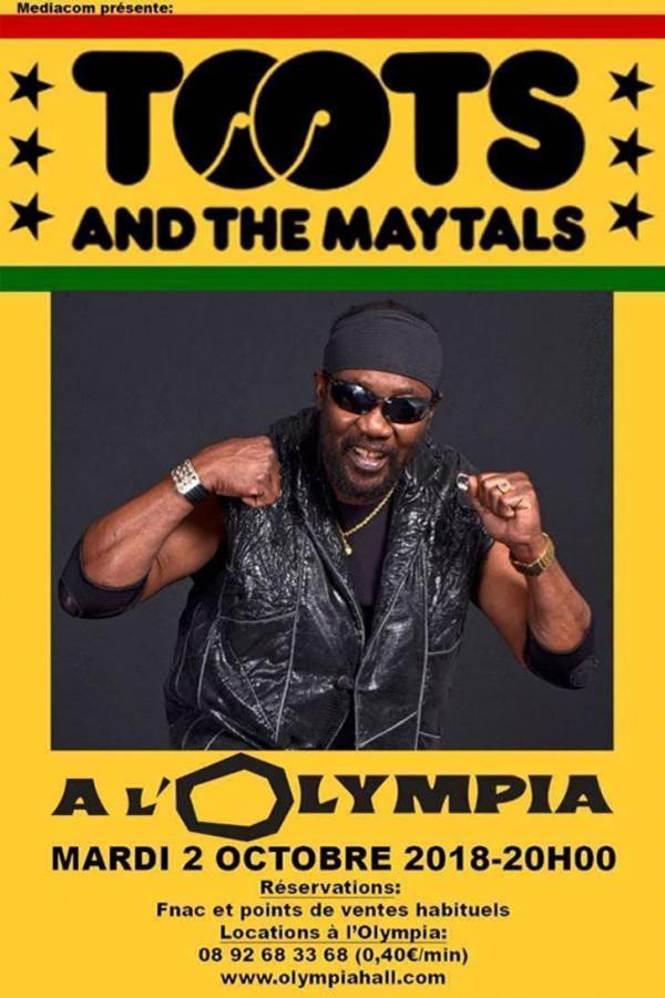 Toots & The Maytals à l'Olympia, le 2 octobre