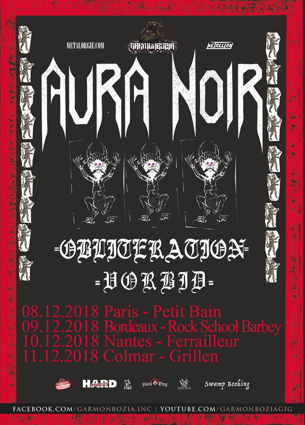 Aura Noir, Obliteration, Vorbid, Tour, 2018