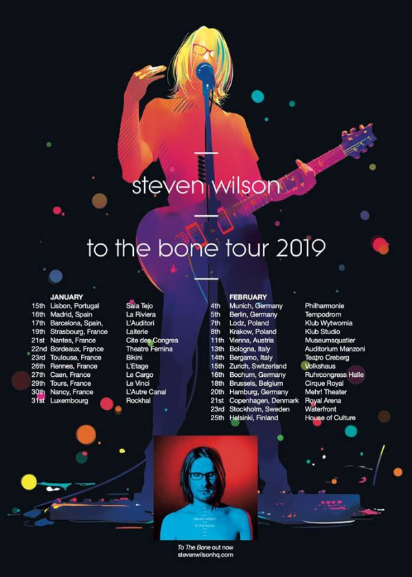 steven wilson, tournée, to the bone, live, concert, france, 2019