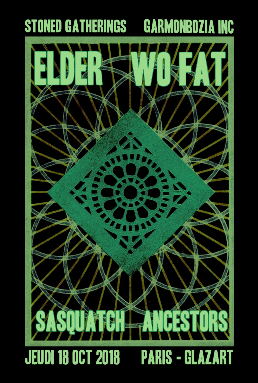 Elder, Wo Fat, Sasquatch, Ancestors, tour, 2018, Paris