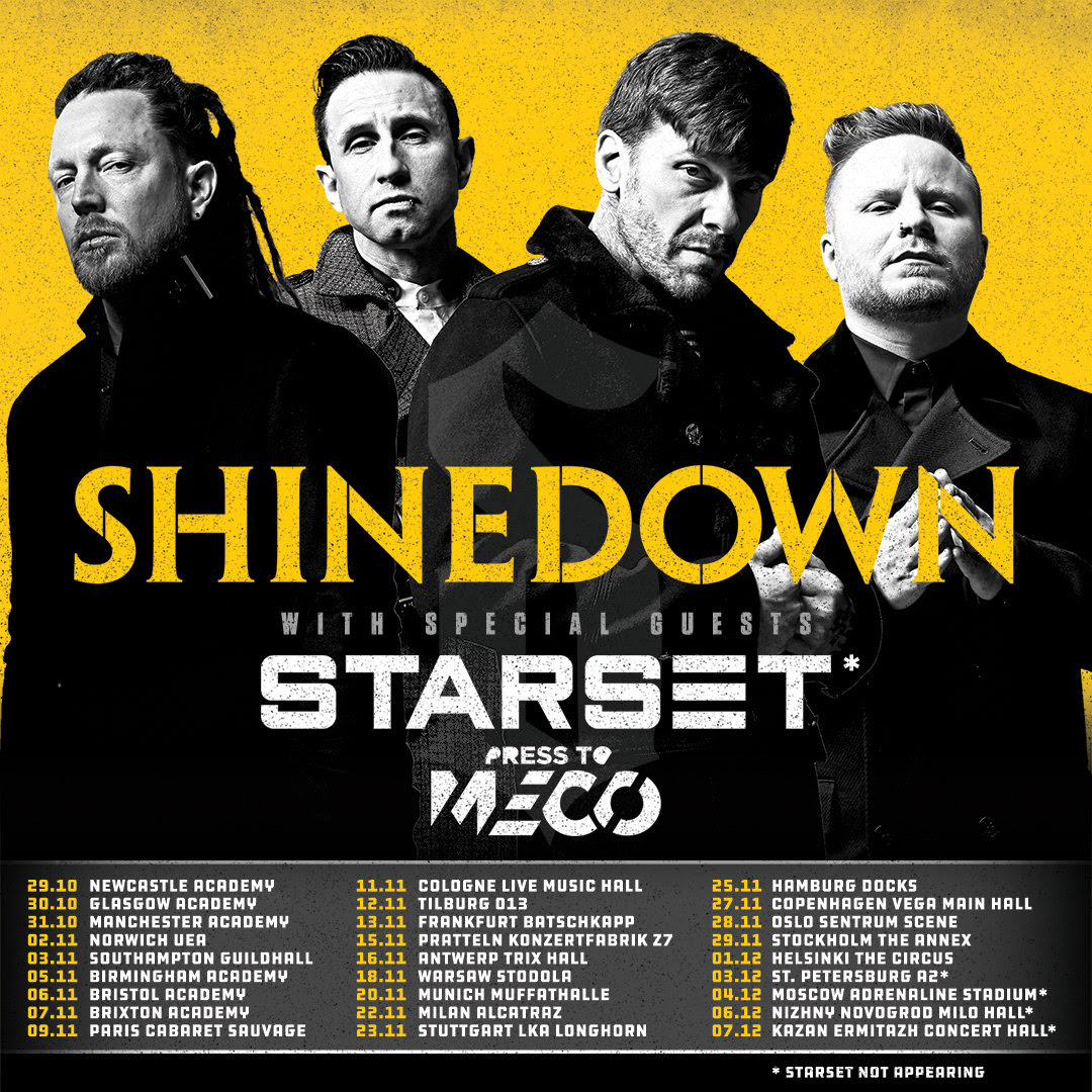 Shinedown, Starset, tour, 2018, Paris