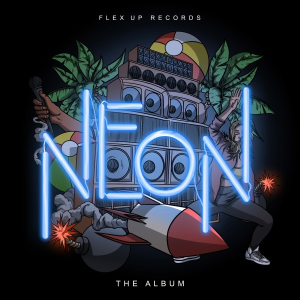 flex up records, neon, compilation