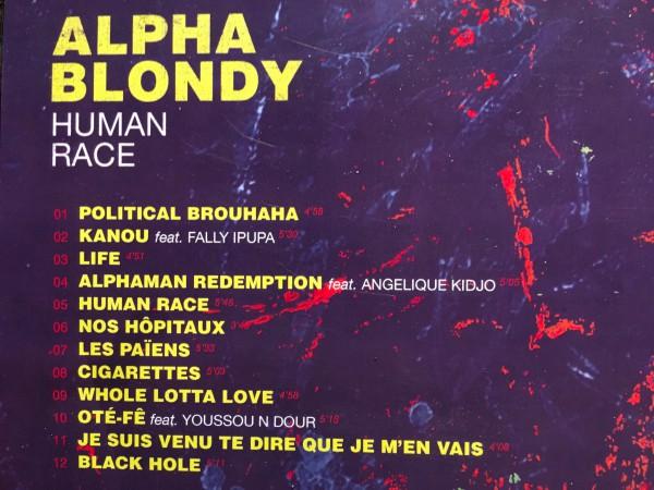 Dos album Alpha Blondy Human Race