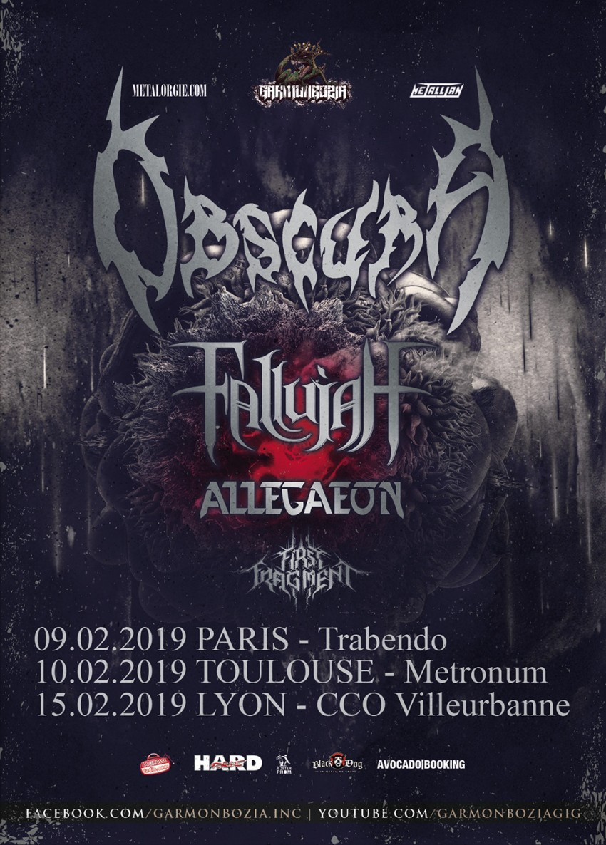 Obscura, Fallujah, Allegaeon, First Fragment, tour, 2018
