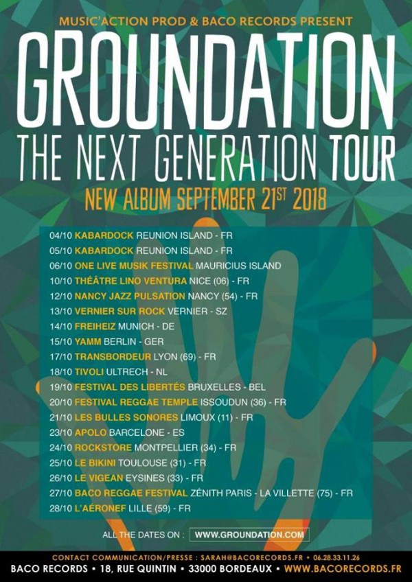 Groundation - The Next Generation Tour