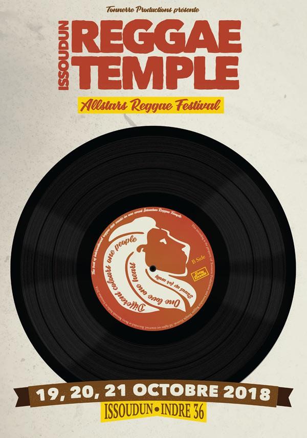 Affiche Reggae Temple Issoudun 2018
