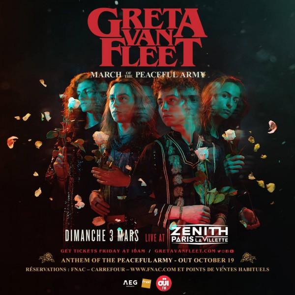greta van fleet, concert, paris, annonce, rock