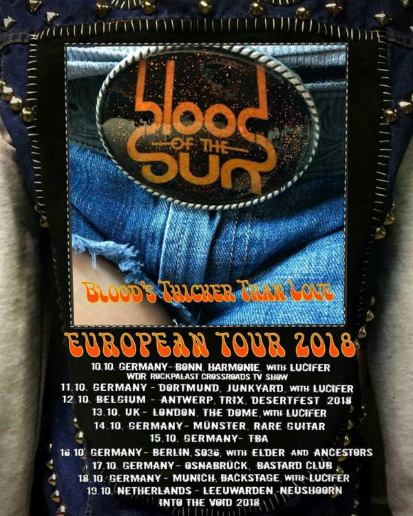 Tour, Blood's thicker than blood tour, Blood of the sun, Allemagne
