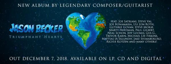 jason becker,Triumphant Hearts, magnificent 13, nouvel album, 2018, nouveau titre, valley of fire