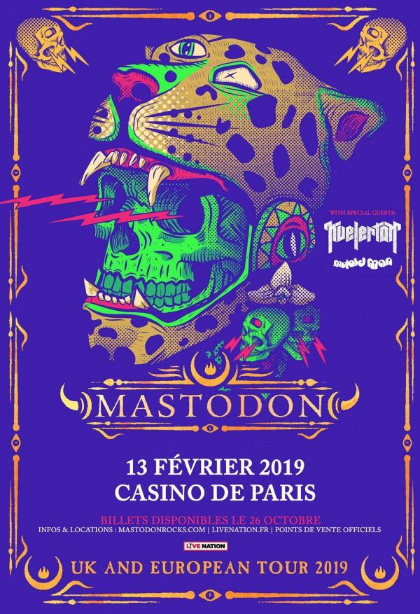 mastodon, tournée 2019, casino de paris, scott kelly, live nation