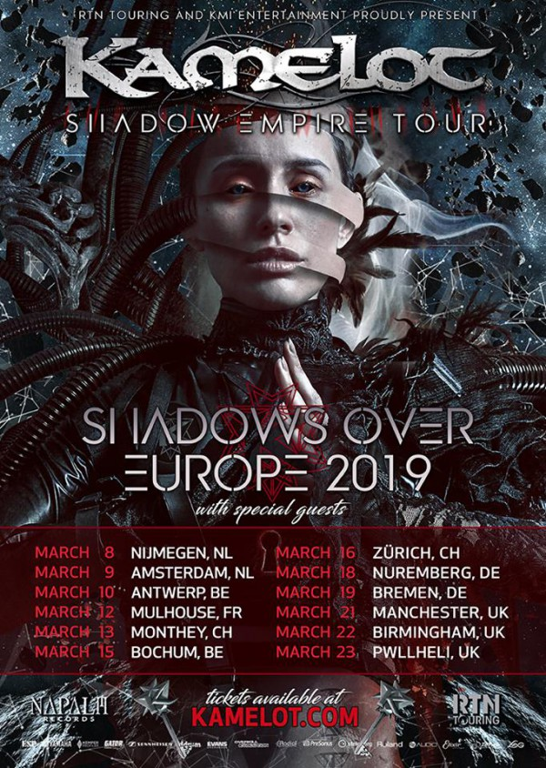 Kamelot, Mulhouse, Noumatrouff, The Shadow Theory, Napalm Records
