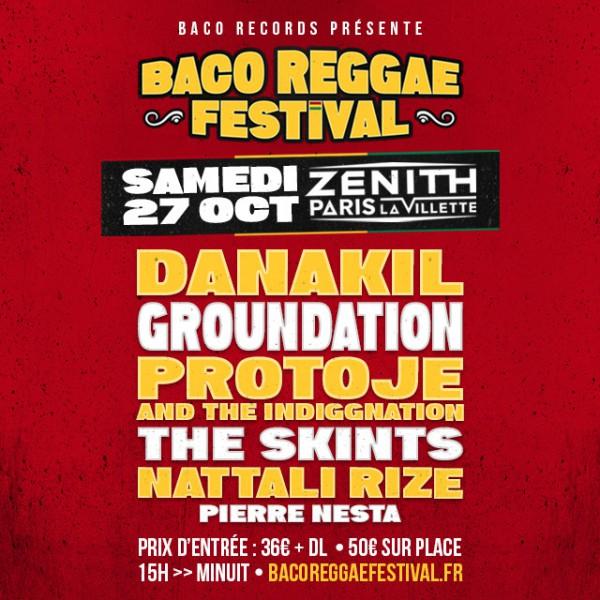 Affiche Baco Reggae Festival