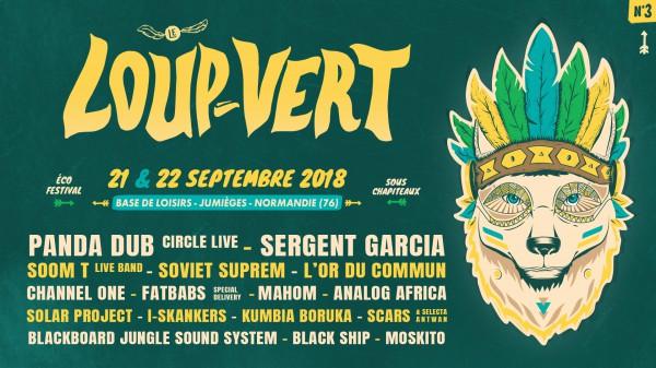 Affiche festival du Loup Vert