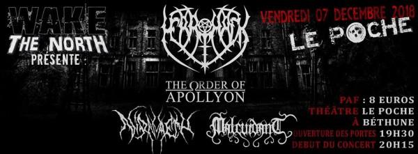 Wake the north, merrimack, concert, black metal, bethune