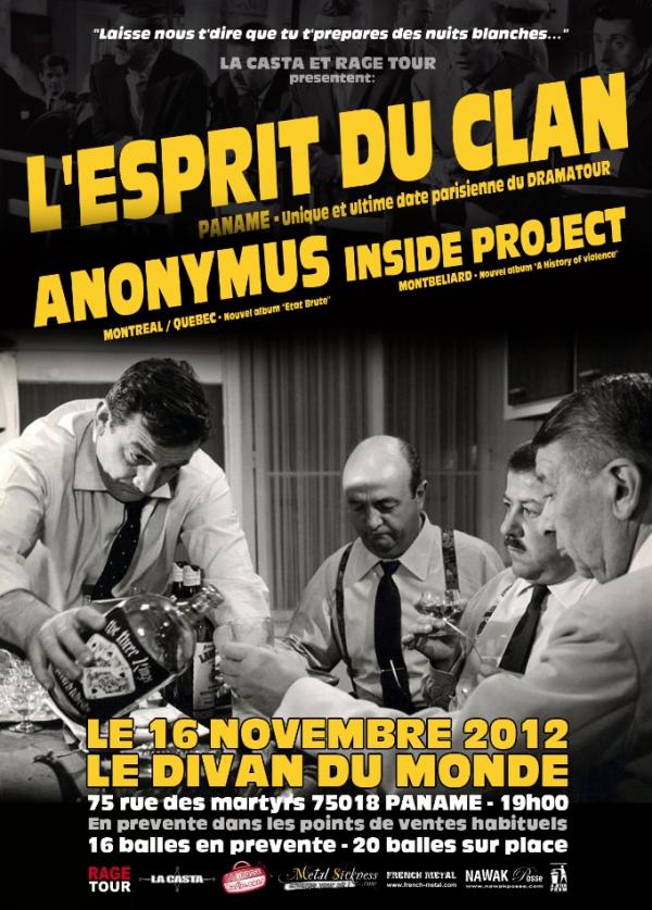 L'Esprit du Clan au Divan du Monde (Paris) le 16 Novembre avec La Grosse Radio