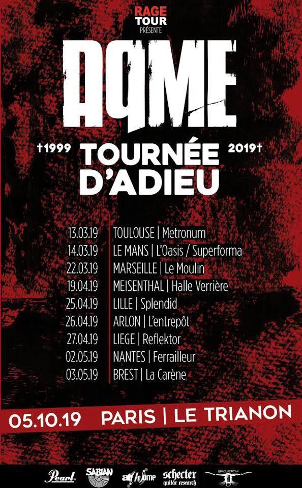 AqME tournée Adieu 2019