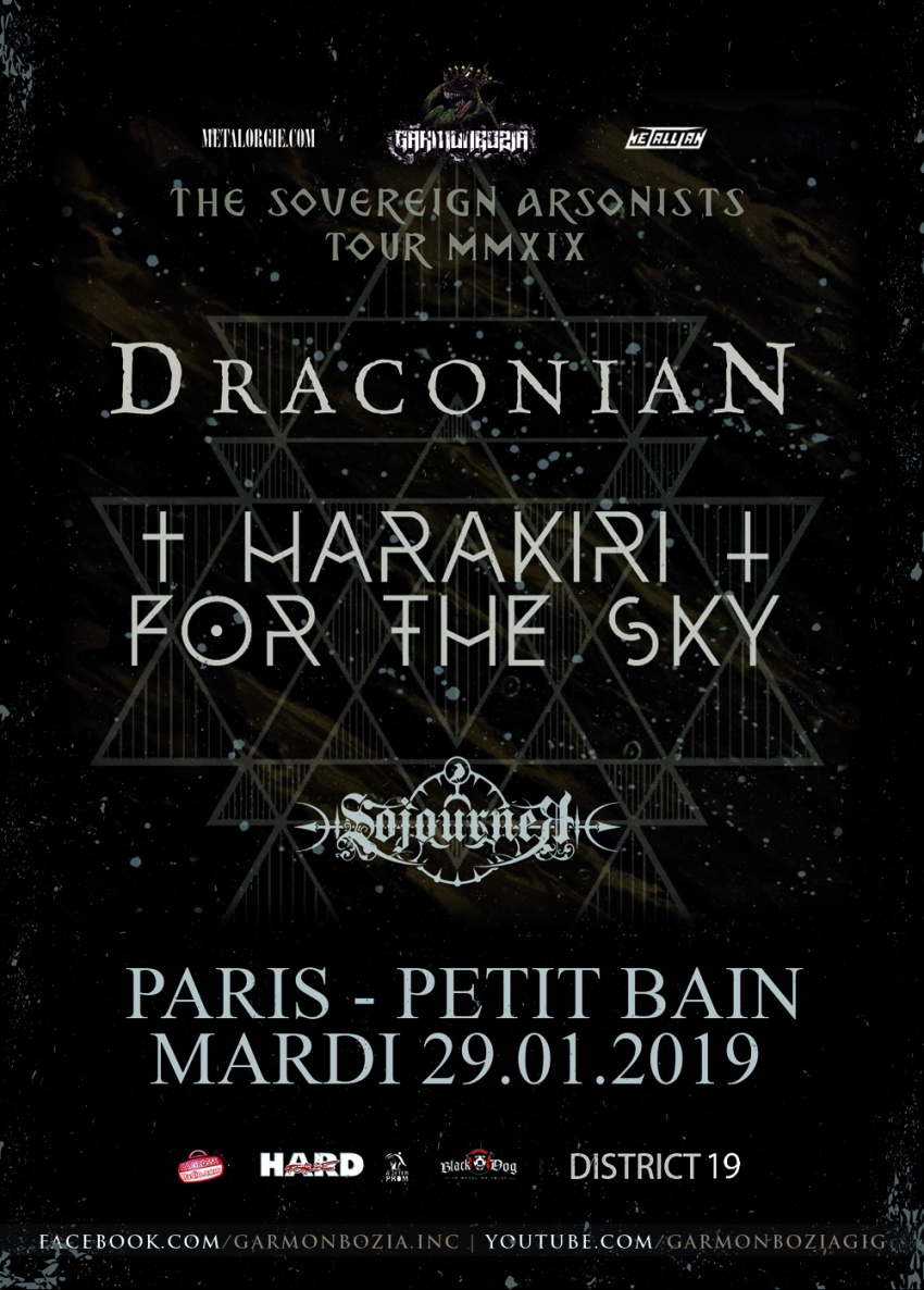 Draconian, Harakiri For The Sky, Sojourner, Paris, Petit Bain