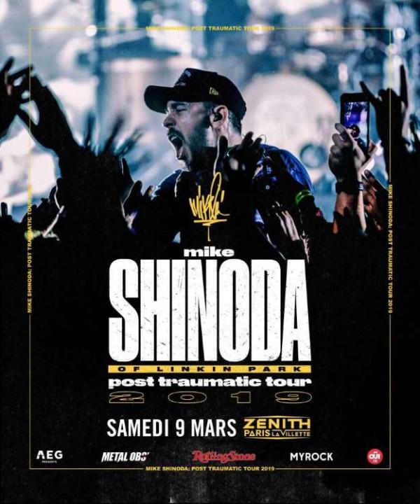 Mike Shinoda, tournée européenne, paris, mars 2019