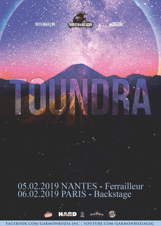 Toundra, Tour, Nantes, Paris, 2019, Vortex