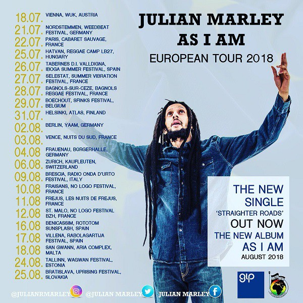Julian Marley - Tournée Européenne 2018