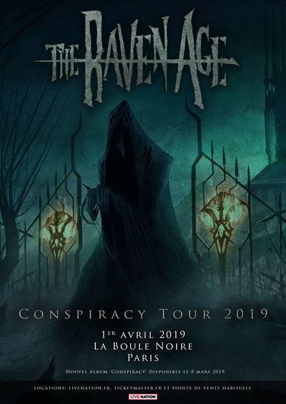 the raven age, tournée 2019, la boule noire, conspiracy
