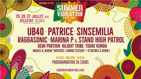 summer vibration, 2019, nouveaux noms