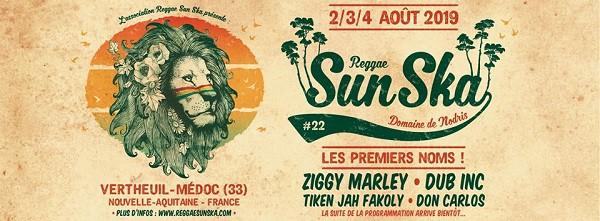 Reggae Sun Ska - Bandeau Premiers noms