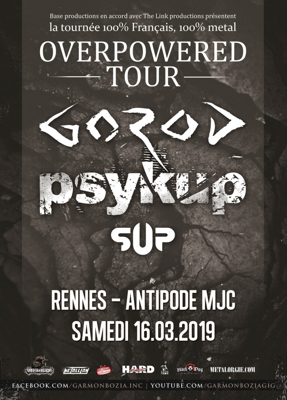 Gorod, Psykup, Sup, Tour, 2019