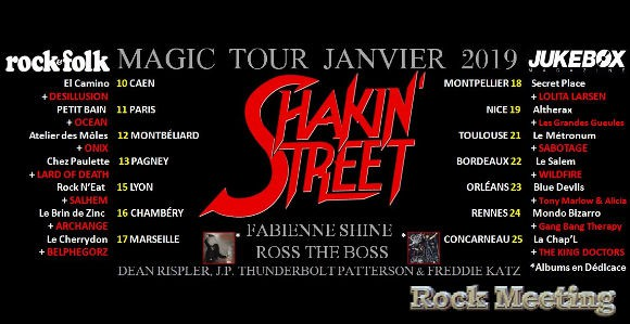 Shakin Street Tour 2019