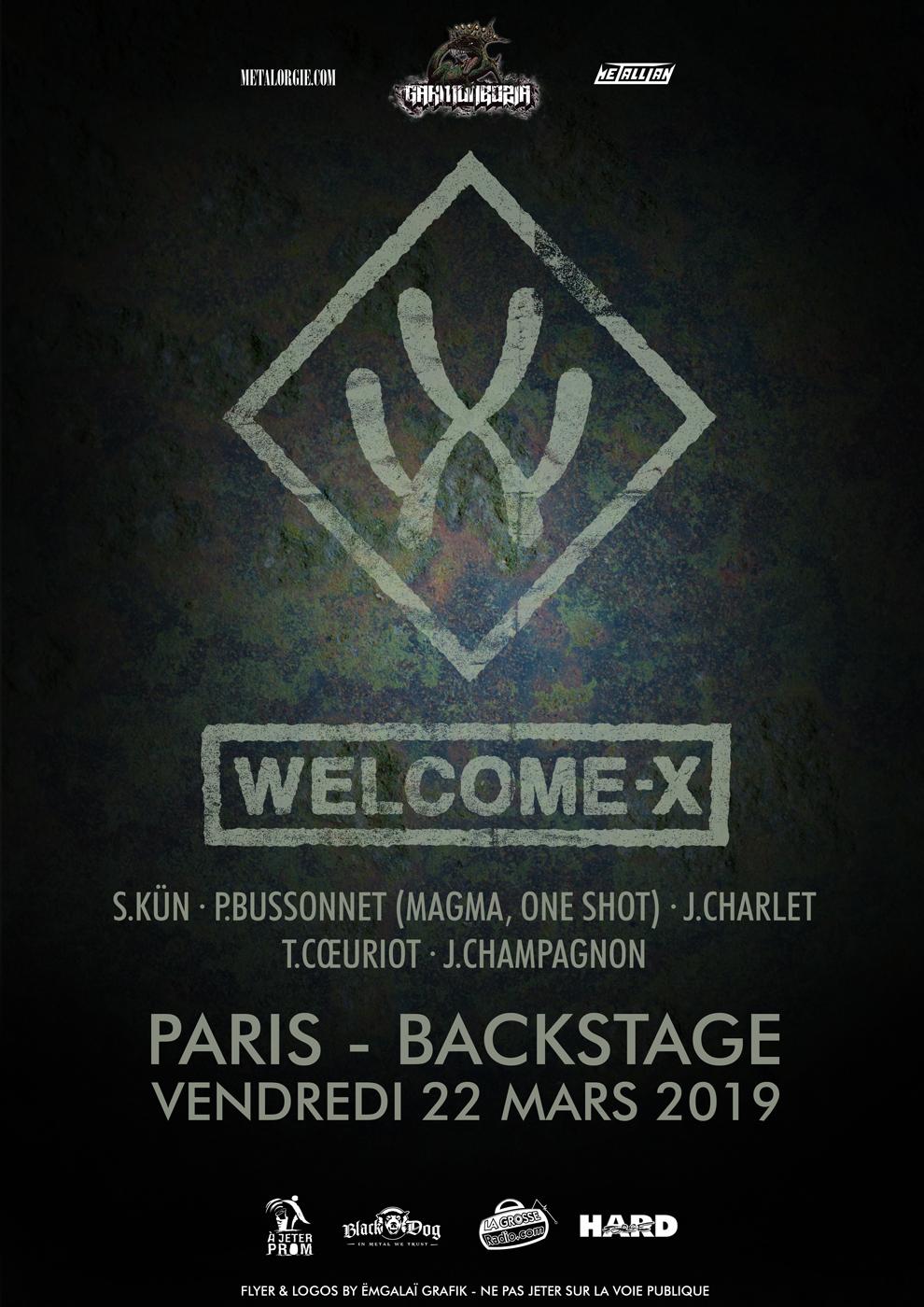 Welcome-X, Paris, Nantes, Tour, 2019