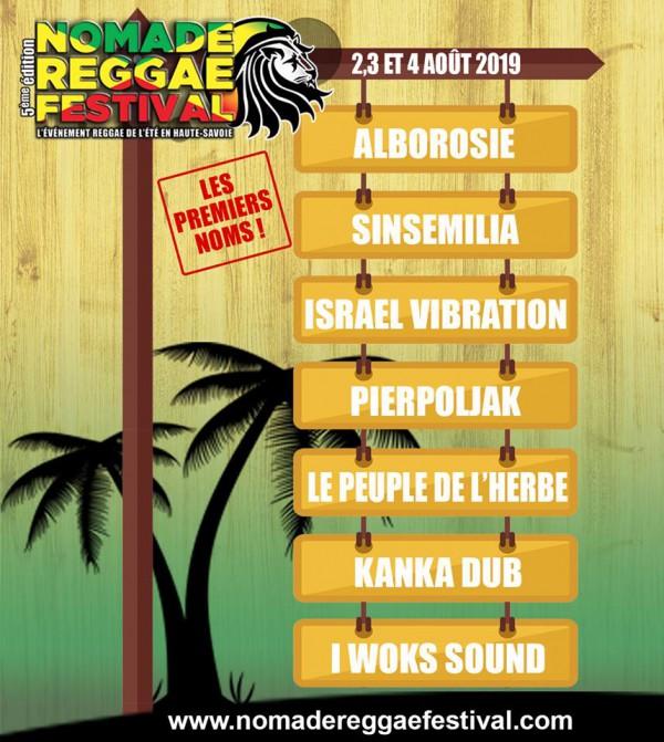 nomade reggae festival, frangy, premiers noms