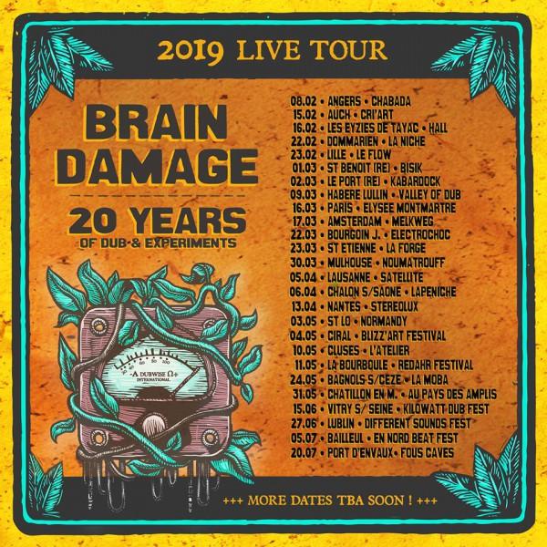 brain damage, tournée, 20 ans
