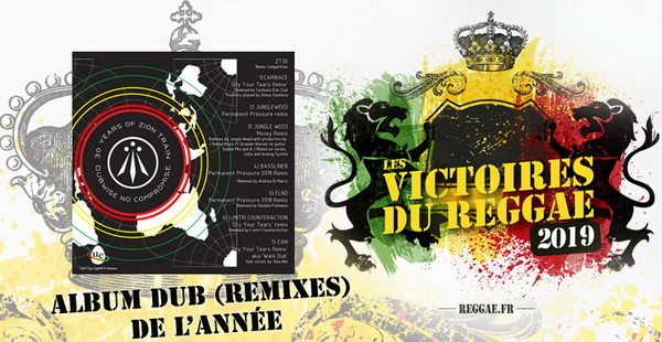 Victoires du Reggae 2019, Album Dub remix, compil