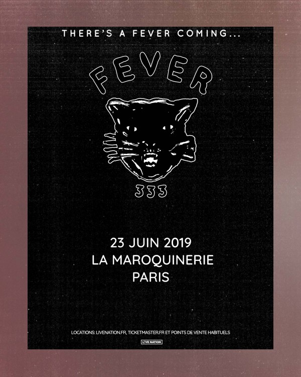 fever 333, concert, paris, tournée, rock, punk