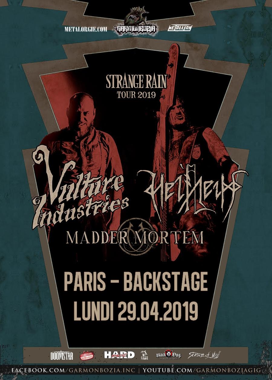 Helheim, Vulture Industries, Madder Mortem, Tour, Paris, 2019