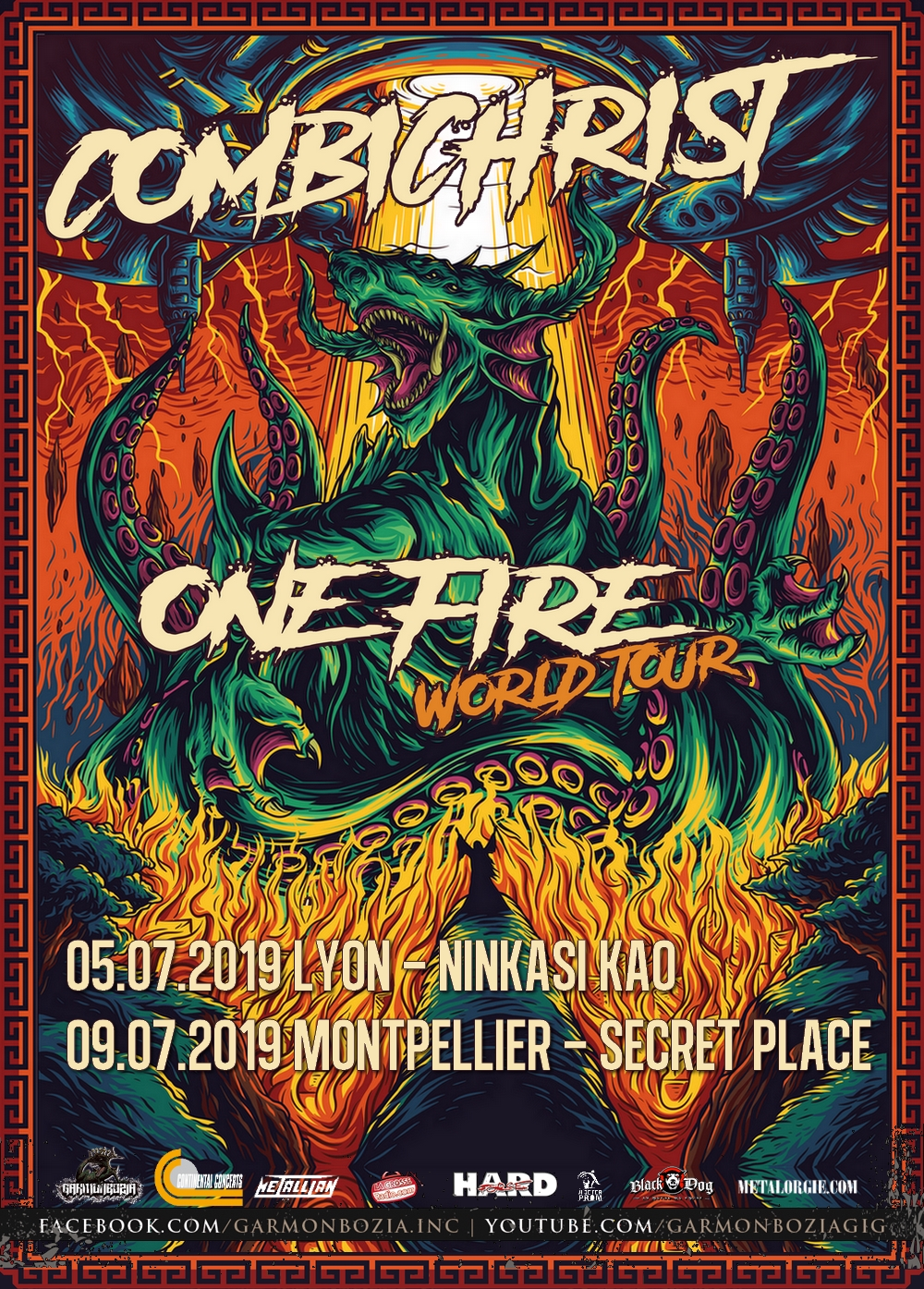 Combichrist, Tour, 2019, One Fire