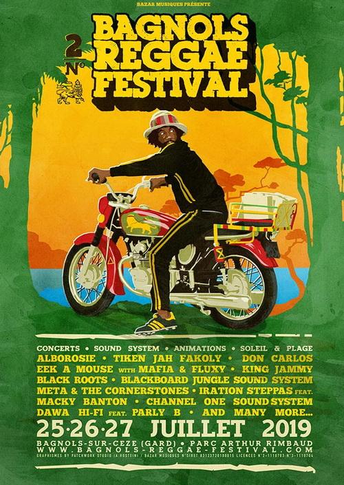 Bagnols Reggae Festival 2019 affiche