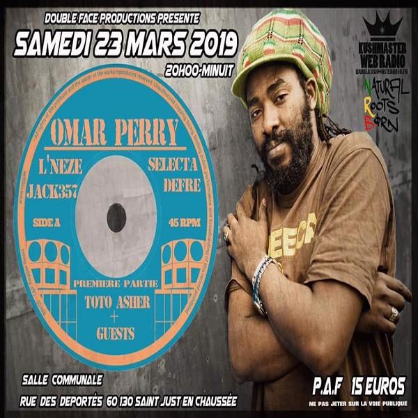 Affiche concert Omar Perry, Saint Just En Chaussée, le 23 mars