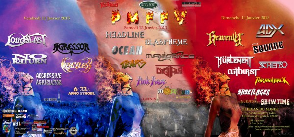 pmff5, ADX, Manigance; Loudblast, Headline, Blasphème, Heavenly, Mörglbl