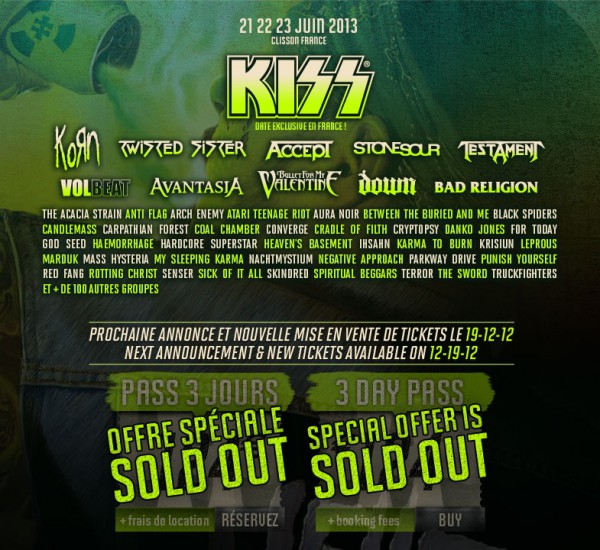 Hellfest, festival, clisson, Kiss, Testament, Down, Twisted Sister, Accept