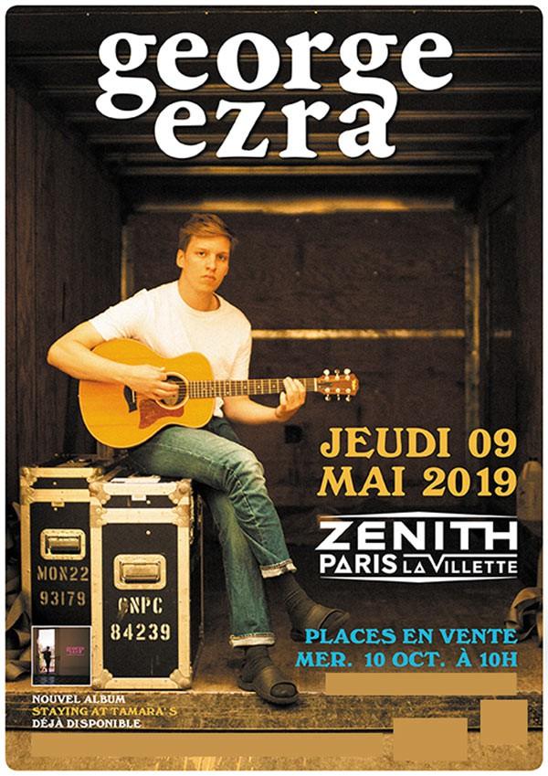 george ezra, folk, rock, concert, paris