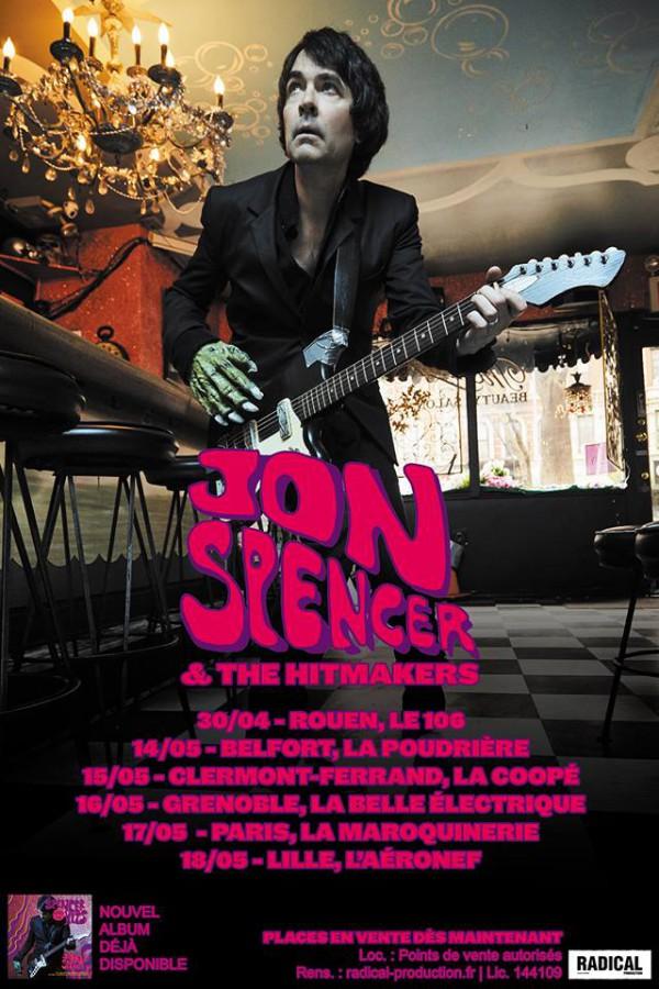 Jon Spencer French Tour 2019