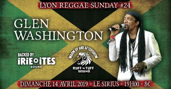 lyon reggae sunday, 14 avril, glen washington