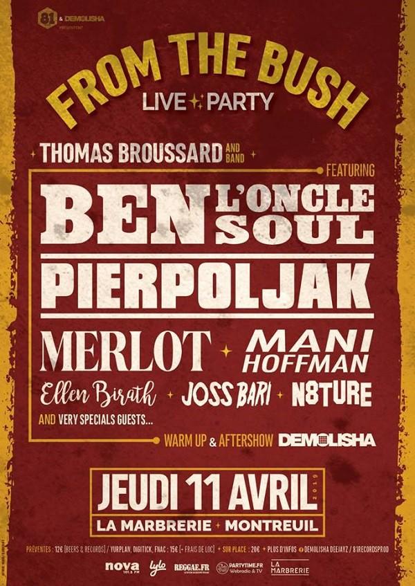 Affiche concert - Thomas broussard à la Marbrerie, le 11 avril
