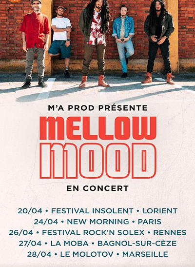 mellow mood, tournée, concert