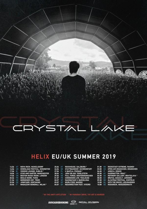 Crystal lake, tour, europe, summer 2019